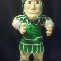 Sparty MSU Sparty, he's 3 ft. tall, this is my first 3d stand up cake.