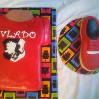 Vlado Brand Shirt And Shoe Cake Vlado brand shirt and shoe cake.