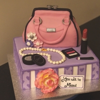 Handbag And Makeup Cake This was made for a friends Goodbye Luncheon