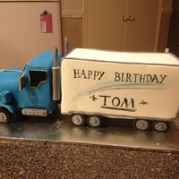 Truck A large truck cake made of marbled sponge.