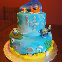 Minion Cake Chocolate Cake With Chocolate Bavarian Filling Inspired By Kidz Goodies Minion Cake Chocolate cake with chocolate bavarian filling. Inspired by Kidz Goodies.