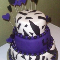 Zebra & Purple Cake