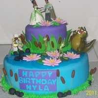 Princess & The Frog Cake