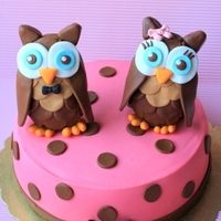 Owl Couple Cake I made this cake for a couple who love owl so much