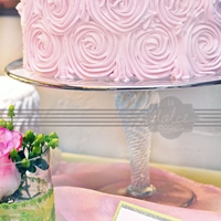 Ruffle Rosette Cake In Pink And White Petal Ruffle Cake