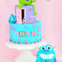 "Monster's Inc Monster's Inc 3rd Birthday. The Birthday girl wanted ""Monsters Inc. and Marshmallows""! ... So, on her personal cake Sully&#..."