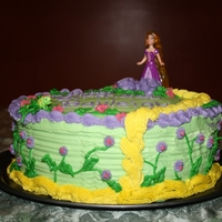 Tangled Cake This was for my daughter's 5th Birthday, She loves Tangled :) (The first cake I've ever made)