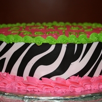 Zebra Print This was my 3rd time making a cake :) Think it turned out OK!