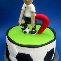 Soccer Cake   A soccer cake I made for my son this week.