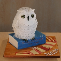 Hedwig Owl Cake 3-d sculpted Hedwig owl cake is an 8-inches tall chocolate mud cake, covered in fondant. Would have covered using modelling chocolate but...