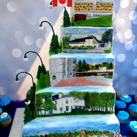 Celebrating 50 Years Of Trent University Celebrating 50 Years of Trent University~~~~~A Hand painted tier for each college from oldest to youngest Champlain College , Traill...