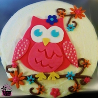 Retro Owl Birthday Cake