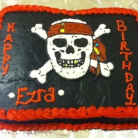 Pirate Cake Birthday Pirate cake buttercream icing and buttercream transfer