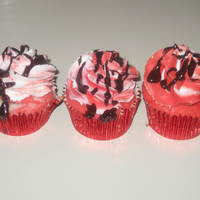 Peppermint Cupcakes With Chocolate Truffle Filling Buttercream Icing Drizzled With Ganache   Peppermint cupcakes with chocolate truffle filling, buttercream icing, drizzled with ganache