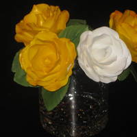 My First Attempt At Gumpaste Roses   My first attempt at gumpaste roses
