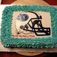 Nfl Birthday Cake hand painted image with buttercream icing