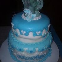 My First Christening Cakei Even Made The Topper *my first christening cake........I even made the topper :)