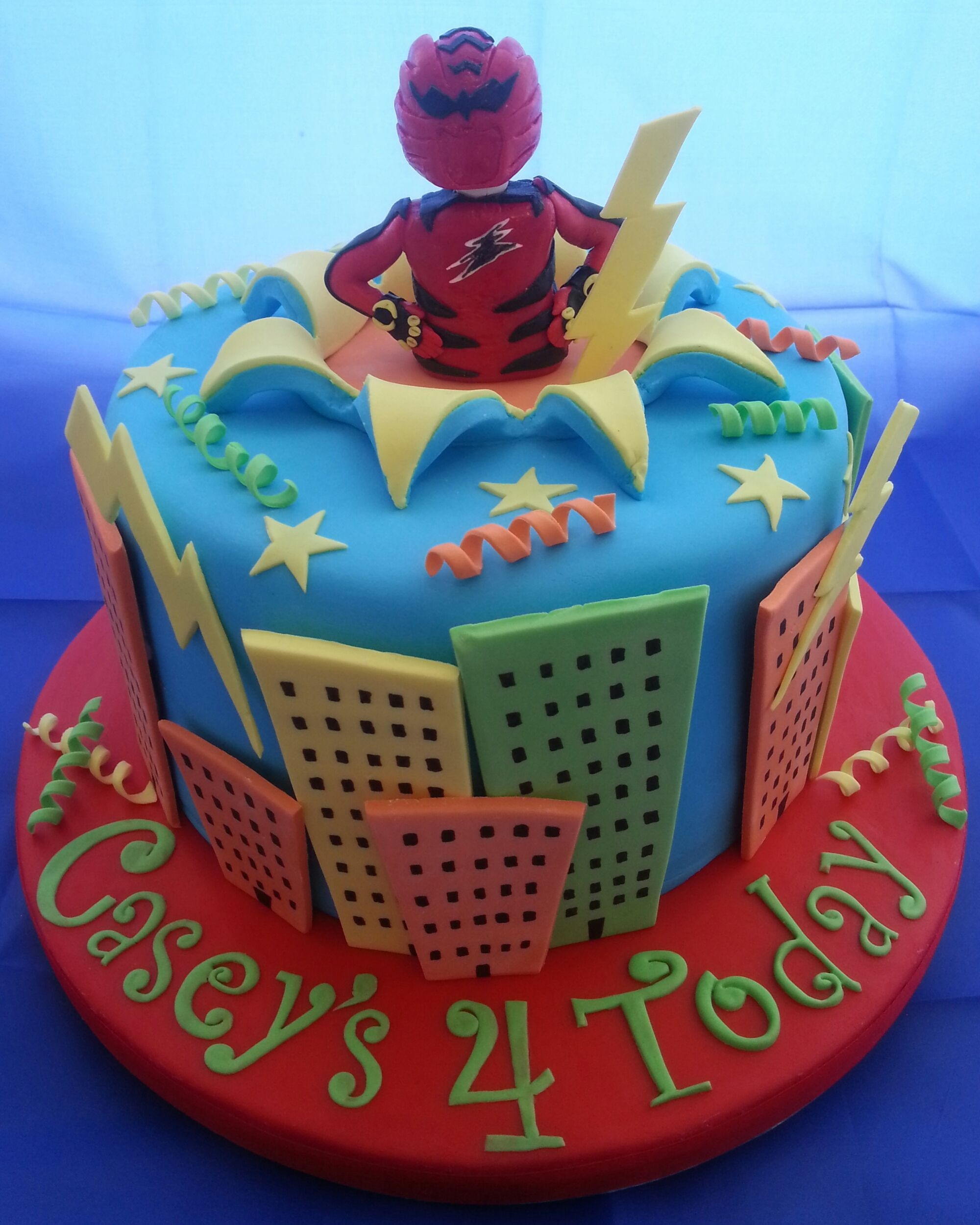 My Sons 4Th Birthday Cake (Power Rangers)