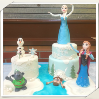 My Nieces Frozen Cake
