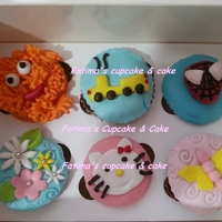 Cupcakes For Brother & Sister   Choclate cupcakes covered in mmf
