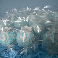 Royal 16 Cakepops for a Sweet 16 Cinderella themed celebration. Flower is gumpaste, everything else is chocolate.