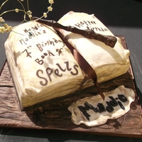 Harry Potter - Book Of Spells & Elder Wand Cake
