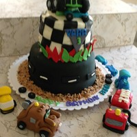 Tracktruck Thememy Sons 3Rd Bday Cake track/truck theme....my sons 3rd bday cake!