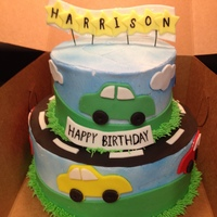 Car Themed Birthday Cake Car themed birthday cake