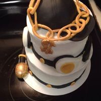 Hip Hop Cake With Cap Gold Chain Dollar Sign Microphone And Headphones hip hop cake with cap, gold chain, dollar sign, microphone, and headphones