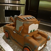 Mater The Tow Truck Cake for my Son's 3rd Birthday