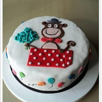 Monkey Cake Birthday Cake
