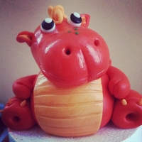 Fatty Watty Dragon Gumpaste Orange Dragon