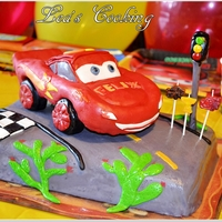 "Cars Lightning Mcqueen Cake Topper Tutorial Inspired by Lightning McQueen from the Disney Movie ""Cars"". Make your kid's birthday cake special. Make a car cake by..."