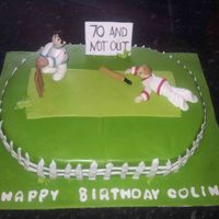 Oval Cricket Cake Oval Cricket cake