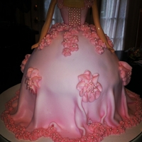 Barbie Princess Cake Back detail of dress