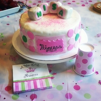 Pink & Green Baby Shower Cake