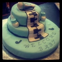 Baby Boys Musical Baby Shower Made for a customer who is a musician and wants his future son to love music just as much