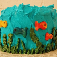 Here Little Fishy! Under the sea cake for child