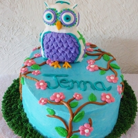 Owl Cake Chocolate cake - owl theme