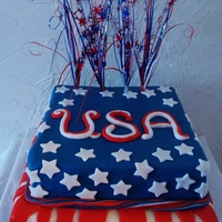 4Th Of July Celebration cake for a 4th of July picinic