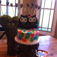 Twin Owls Baby shower for twins, boy and girl