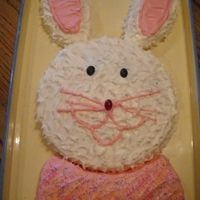 Easter Bunny Bunny Cut-out Cake