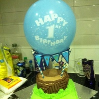 This Is A Hot Air Balloon Cake I Made For My Sons 1St Birthday I Hope To Find A Better Pic To Go With This One This is a hot air balloon cake I made for my sons 1st birthday. I hope to find a better pic to go with this one