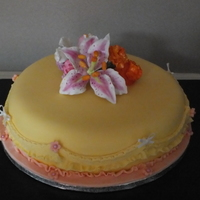 Lilly, Sweetpea And Spray Carnation Cake