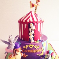Madagascar 3 Theme Birthday Cake Madagascar 3 theme birthday cake