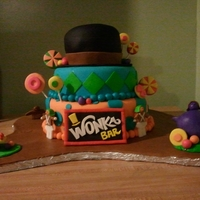 Willy Wonka Cake Evelyn's 8th birthday cake and my first attempt at fondant!