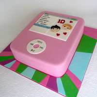 One Direction Ipod I'll say straight up that this cake design was supplied to me by my friend who found it on the internet - so I don't know who to...