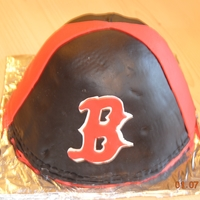 Boston Red Sox Knit Cap Cake of an authentic Boston Red Sox knit cap