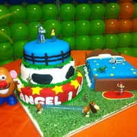 A Toy Story Cake This is one of my first cakes, Im so Exited!!!!!