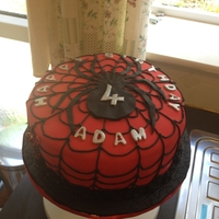 Spiderman Cake Spiderman cake for a 4th Birthday